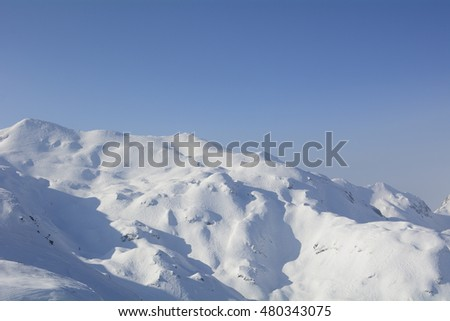 Danger mouintain with high probability of avalanche.