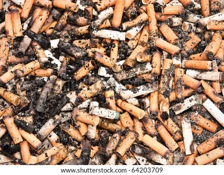 danger of cigarettes background - stock photo