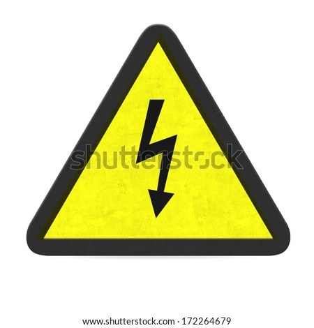 danger of electrocution sign - stock photo