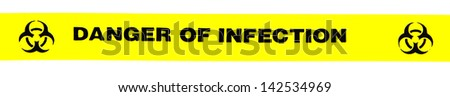 Danger of infection banner - stock photo