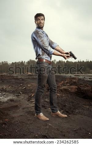 Danger of life on run - stock photo