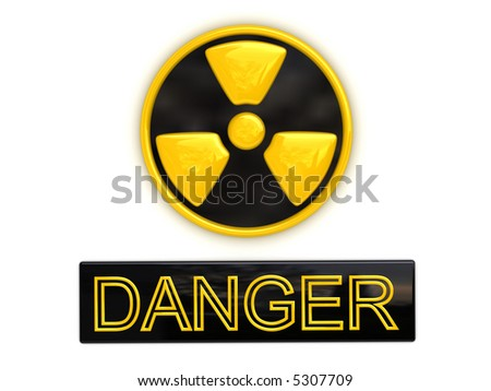 Danger radioactive sign (image can be used for printing or web) - stock photo
