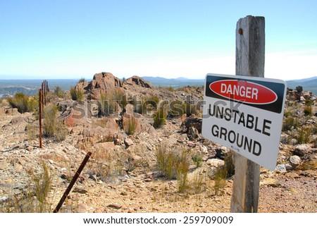 Danger Sign - stock photo