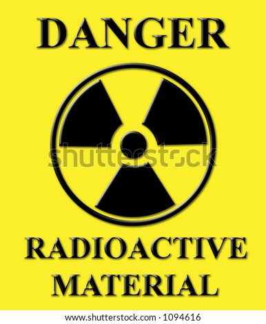 Danger sign of radioactive material