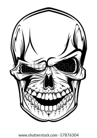 Danger skull. Vector version also available in gallery - stock photo