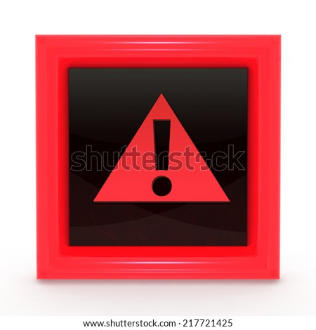 Danger square icon on white background