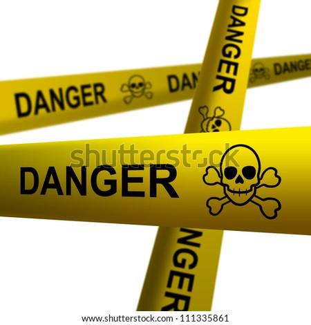 Danger tapes - stock photo
