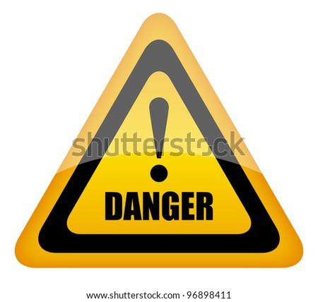 Danger traffic sign - stock photo
