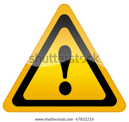 Danger warning sign - stock photo