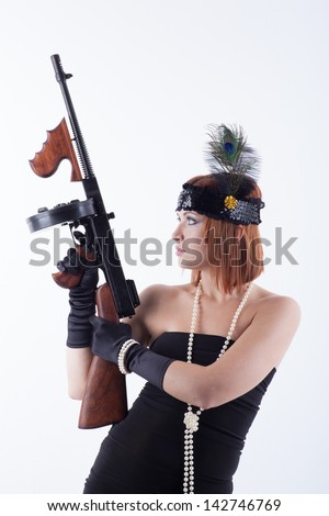 danger woman - stock photo