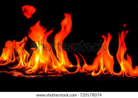 Dangerous Fire Red Hot Fire Frames Stock Photo (Safe to Use ...