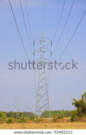 Dangerous high voltage electricity pole.