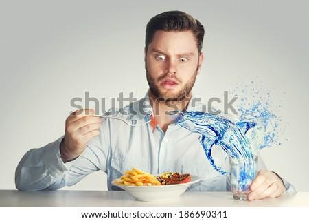 dangerous lunch - stock photo