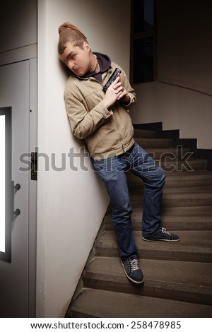 Dangerous moments in house - stock photo