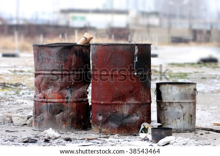 Dangerous toxic waste material - stock photo