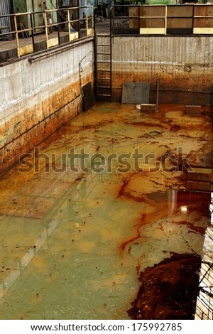 dangerous water liquid - stock photo
