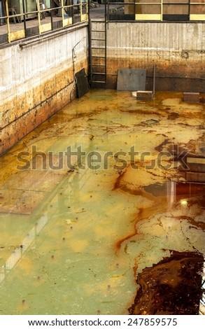dangerous water liquid in the pool - stock photo