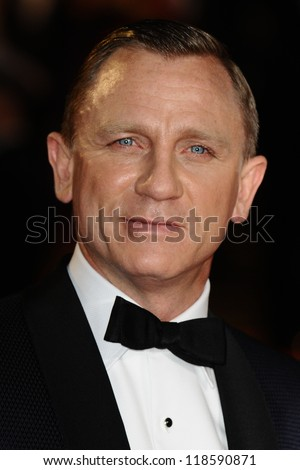 Daniel Craig arriving for the Royal World Premiere of 'Skyfall' at Royal Albert Hall, London. 23/10/2012 Picture by: Steve Vas - stock photo