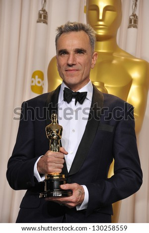 Daniel Day Lewis at the 85th Academy Awards at the Dolby Theatre, Los Angeles. February 24, 2013  Los Angeles, CA Picture: Paul Smith - stock photo