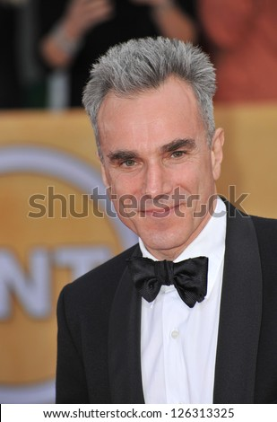 Daniel Day Lewis at the 19th Annual Screen Actors Guild Awards at the Shrine Auditorium, Los Angeles. January 27, 2013  Los Angeles, CA Picture: Paul Smith - stock photo