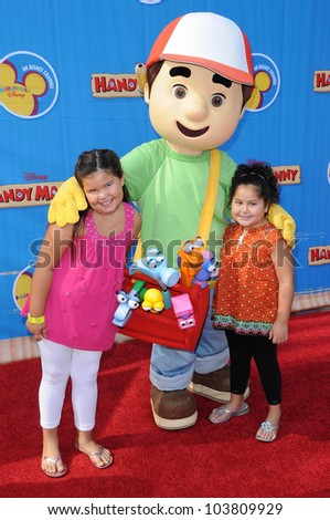 Daniella Baltodano and Madison De La Garza at the Los Angeles Premiere of 'Handy Manny Motorcycle Adventure'. Arclight Hollywood, Hollywood, CA. 09-26-09 - stock photo
