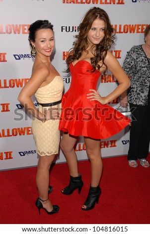 Danielle Harris and Scout Taylor-Compton at the Los Angeles Premiere of 'Halloween II'. Grauman's Chinese Theatre, Hollywood, CA. 08-24-09