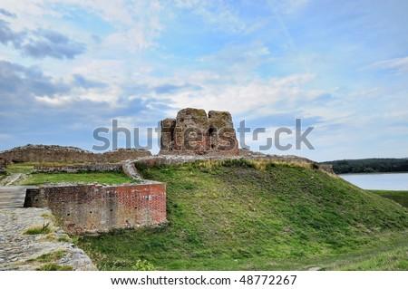danish castle Kalo known from 1313 near Aarhus - stock photo