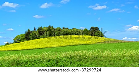 Danish countryside - stock photo