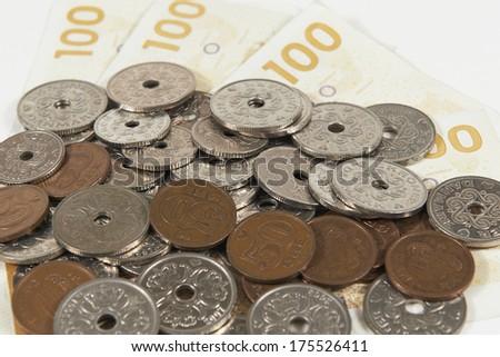 Danish currency - stock photo
