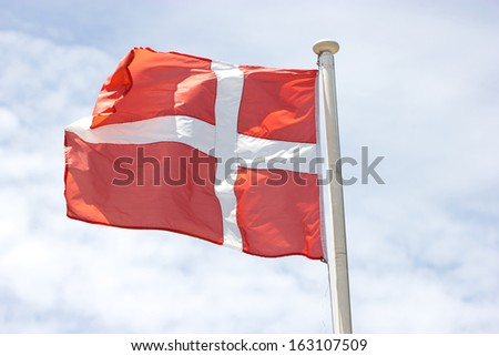 Danish flag. - stock photo