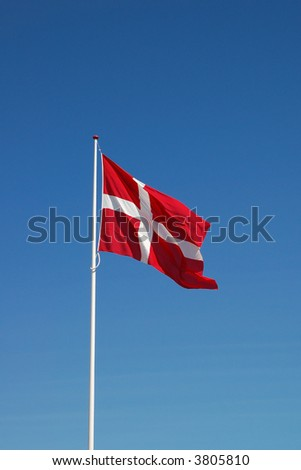 Danish flag - stock photo
