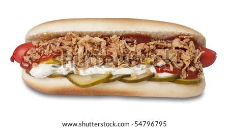 Danish original hot dog - stock photo