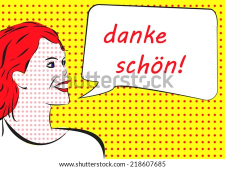 danke schoen - thank you in german - stock photo