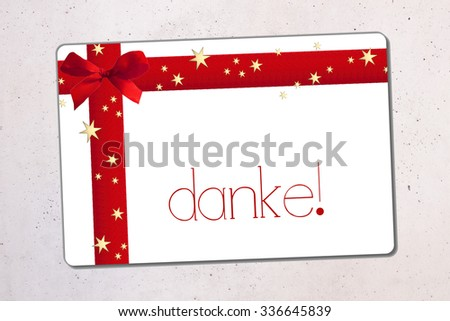 danke- thank you in german - stock photo