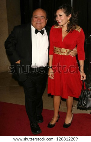 Danny Devito and daughter Lucy at the 21st Annual American Cinematheque Award Honoring George Clooney. Beverly Hilton Hotel, Beverly Hills, CA. 10-13-06