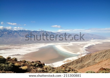 Dante's View - Death Valley National Park, California USA - stock photo
