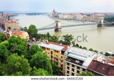 Danube in Budapest, Hungary, Europe - stock photo