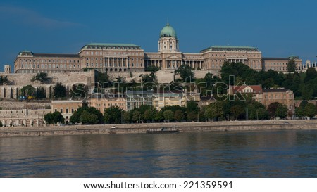 Danube riverside in the historical center of Budapest. Since 1987 is an Unesco world heritage Site. - stock photo