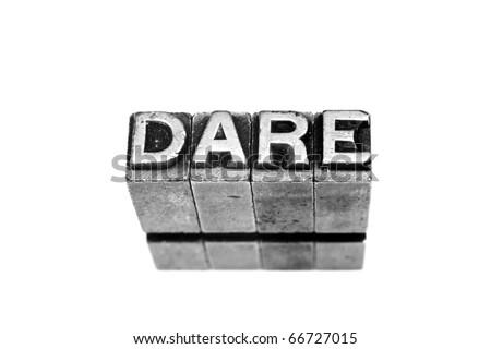 dare - stock photo