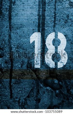 Dark 18 - stock photo