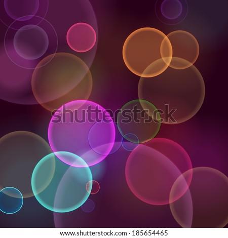 dark abstract blurred circular bokeh lights background - stock photo