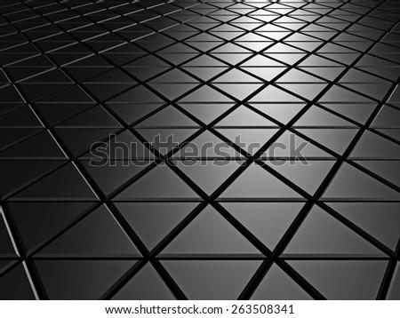 Dark Aluminum Abstract Silver Metallic Background. 3d Render Illustration - stock photo