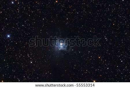 Dark and bright nebula Iris - stock photo