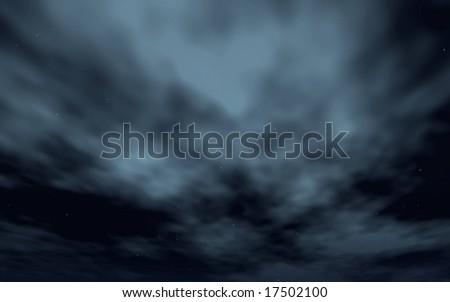 Dark and Cloudy Sky - stock photo
