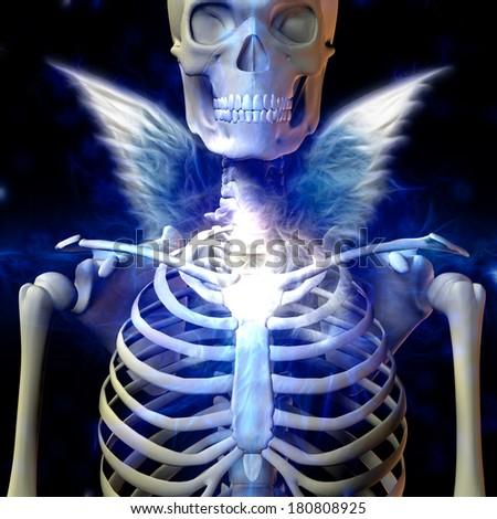 Dark Angel - stock photo