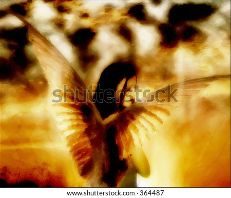 Dark Angel - stock photo