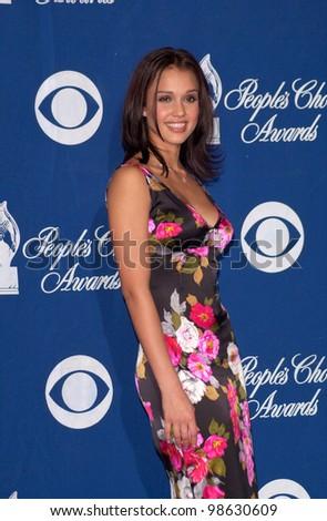 Dark Angel star JESSICA ALBA at the 27th Annual People's Choice Awards in Pasadena, California. 07JAN01.   Paul Smith/Featureflash - stock photo