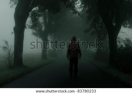 dark atmosphere - stock photo