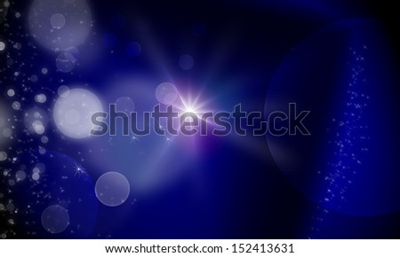 dark background abstract texture with lights bokeh and stars - stock photo