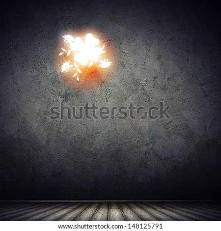 Dark background image with. Luck and success concept - stock photo